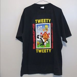 Vintage Looney Tunes Stamp Collection Short Sleeve